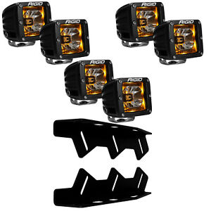 RIGID LED Fog Light Kit Radiance AMBER Back Light for 17-20 Ford F150 Raptor