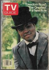 TV GUIDE OCTOBER 1979 MUHAMMAD ALI COVER (VG) FREEDOM ROAD
