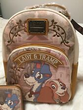 New Exclusive Disney Loungefly Lady And The Tramp Mini Backpack & Wallet