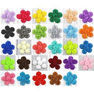 "30 Colors 2"" Satin Ribbon Flower Peony,Carnation flowers DIY Appliques Craft"