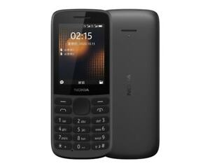 "Nokia 215 4G Dual Sim Black 2.4"" (FACTORY UNLOCKED) FM radio Phone USA Freeship"