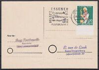 Bund Mi Nr. 298 EF auf Postkarte, gel. in Essen mit WS Ausflugsziele 1960