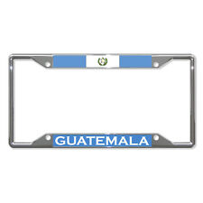 GUATEMALA FLAG COUNTRY Metal License Plate Frame Tag Holder Four Holes