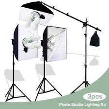 Softbox Reflector Boom Stand & Sandbag Combo Photography Lighting Kit w/ Stands