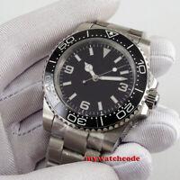40mm BLIGER sterile black dial cermaic Bezel sapphire glass automatic mens watch