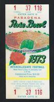 VINTAGE 1973 NCAA ROSE BOWL FULL FOOTBALL TICKET TROJANS vs OHIO STATE BUCKEYES