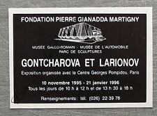 Publicité Exposition Gontcharova Larionov Fondation Giannada 1996 french advert