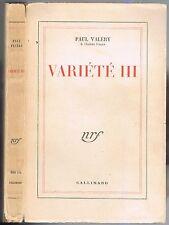 VARIÉTÉ lll de Paul VALÉRY Cimetière Marin Stéphane MALLARMÉ Amphion Sémiramis