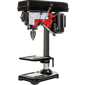 "8"" Electric Drill Press with Laser 5 Speed Guide Stationary Power Tools Wood"