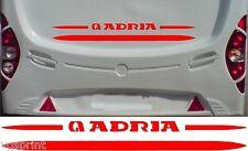 ADRIA caravane / camping-car 2 Kit pièces Autocollants Décalques choix de +