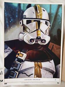 **RARE**#1/1 Topps Star Wars Living Set GOLD Penix Fine Art Print, Clone Trooper