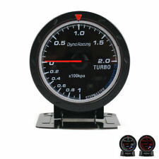 2.5'' 60mm Turbo Boost Gauge 2 Bar White Red LED Car Pressure Meter 200 kpa 12V