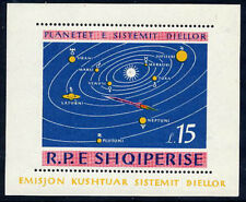 ALBANIA 1964 Planets of the Solar System perforated block MNH / **