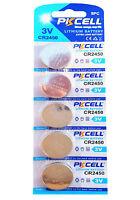 5 x CR2450 3V Lithium Batterie 600 mAh ( 1 Blistercard a 5 Batterien ) PKCELL