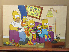 Vintage 1997 The Simpsons poster Home Sweet Home family tv show  5466