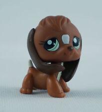 Littlest Pet Shop LPS265 Brown White Beagle Dog Puppy Green Eyes