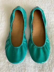 TIEKS by Gavrieli Blue Patent Leather Ballet Flats Womens Size 8 Shoes R$195