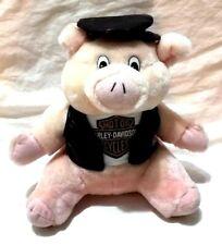 """Harley Davidson Road Hog 6"""" Plush Pig Biker Jacket Hat Stuffed Animal Official"""