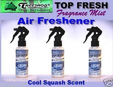 3 Btl spray Treefrog TOP FRESH Fragrance Mist Air Freshener- Cool Squash Scent