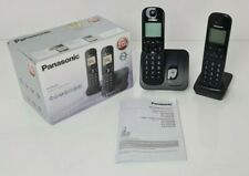 Panasonic Kx-tgc212 Black Twin Digital DECT Cordless Phone With Call Block