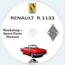 Renault R.1133,manuale Officina e Catalogo Parti di Ricambio