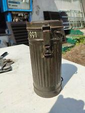 Wehrmacht Gasmaske Dose Behälter Leer 2WK WW2
