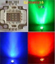 10PCS 10W RGB LED High Power chip. Red Green Blue - 10 Watt Lamp. LED DIY