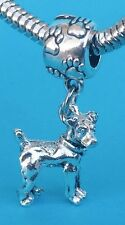 Adorable Jack Russell Terrier 3D Dangle Charm on Pawprint Bail