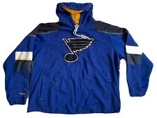 St Louis Blues Reebok Face Off NHL Hooded Sweatshirt Mens 2XL Hoodie XXL Hockey