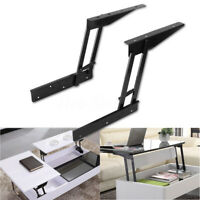 2PCS Folding Lift Up Top Coffee Table Hardware Fitting Furniture Mechanism