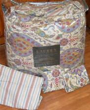 RALPH LAUREN QUEEN COMFORTER SET Moroccan Charm Multi Color NWT Cotton