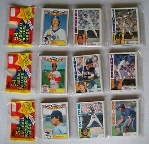1984 Topps Baseball Rack Pack Lot of 3 - 14643