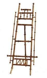 """""""CANTON"""" BAMBOO STYLE TABLETOP DISPLAY EASEL - DISPLAY STAND - ANTIQUE GOLD"""