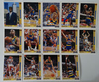 1991-92 Upper Deck Denver Nuggets Team Set Of 20 Basketball Cards