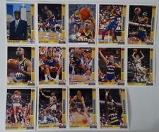 1991-92 Upper Deck Denver Nuggets Team Set Of 20 Basketball Cards