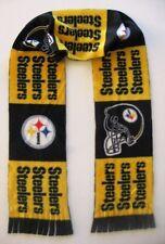 "NFL PITTSBURGH STEELERS Fleece Football Scarf - Men Women Unisex 60"" x 6"" NEW"