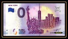 Billet Touristique Souvenir 0 euro New York 2019 Ville et statue de la liberté