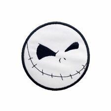 Skull Face Jack Emoji (Iron on) Embroidery Applique Patch Sew Iron Badge