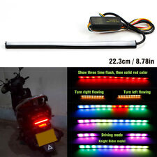 Motorcycle LED Flexible Knight Rider Scanning Turn Signal Strip Tail Brake Light