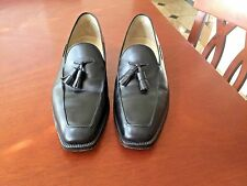 LANVIN PARIS MENS BLACK LEATHER DRESS LOAFERS SHOES SIZE 9 SUPER EXCELLENT COND