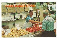 AMISH MARKET STAND Lancaster County PA Postcard Farming Farm Produce Koppel