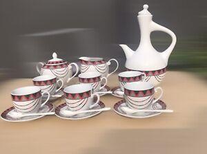 Ethiopian /  Oromia Coffee Cup Sets / Traditional Coffee Ceremony Set 23 PCS
