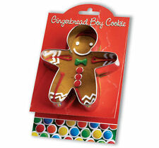 Ann Clark Tin GINGERBREAD MAN Cookie Cutter w/ Cookie & Frosting Recipe USA Made