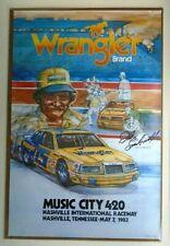 Dale Earnhardt 1983 Wrangler Ford Thunderbird MUSIC CITY 420 NASCAR Poster RARE