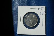 A-221 1987 Canada 25 Cents quarter Queen Elizabeth II