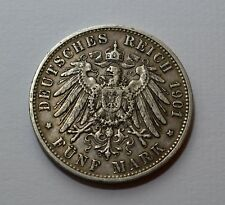 Germany 5 Mark 1901-F, Silver Coin            [#6709]
