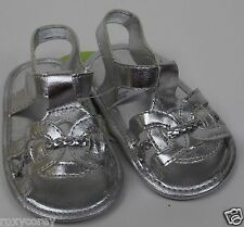 38338887afae Circo Infant Girls Silver Sandals Flip Flop Shoes Size 6-9 months NWT