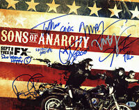 Sons of Anarchy (Flanagan, Rossi +7) Authentic Signed 11x14 Photo BAS #A85153