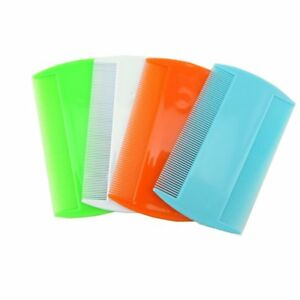 Compact Plastic Ultra Fine Nit LICE Comb Childrens Hair nit remover Dual sides