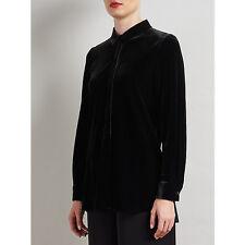 Bruce by Bruce Oldfield Velvet Shirt, Black NEW UK size 8